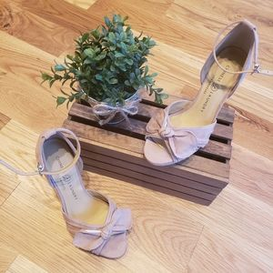 Chinese Laundry Nude Suede Heels